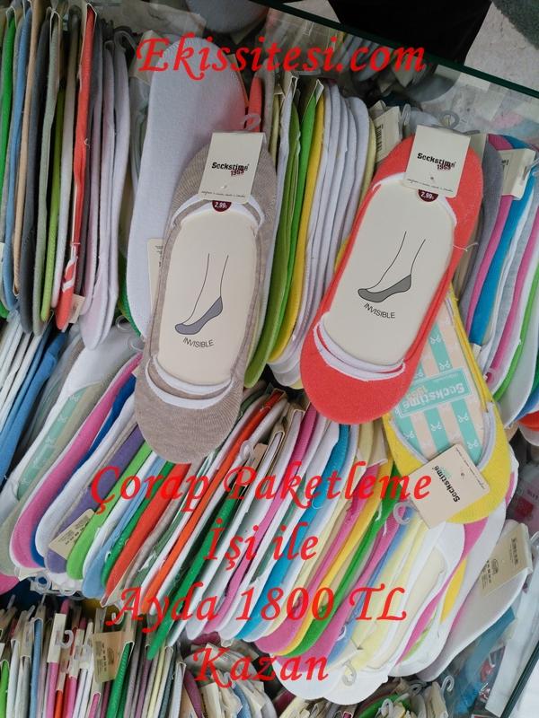 Evde Çorap Paketleme Ek İşi