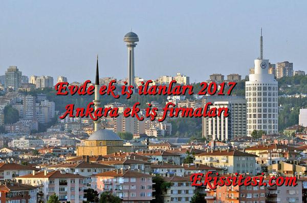 Evde Ek iş Ankara 2017 Eve iş Veren Firmalar